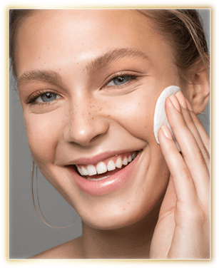 Apply some amount of toner with the help of a cotton ball or cotton pad.